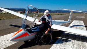 vuelo sin motor adaptado Rehatrans Pepe Varela